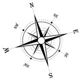 Compass rose. Illustration of an isolated compass rose Stock Photography