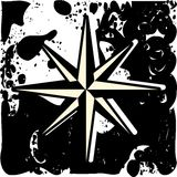Compass rose on abstract background in black and white. Image representing a rose wind in black. An idea that can be used as logo or decoration in projects about Stock Images