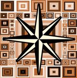 Compass rose on abstract green background  Royalty Free Stock Photos