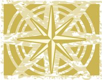 Compass rose on abstract green background Stock Photo