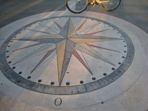 On the compass rose Royalty Free Stock Photography