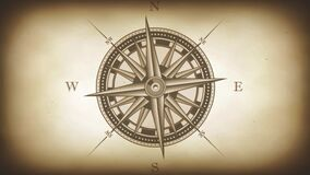 Compass Rose Animation Background Loop