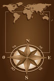Compass Rose and blanck frame royalty free stock images