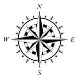 Compass rose compassrose wind rose marine navigation isolated. Compass and Wind rose on isolated white background navigation symbol as vector Stock Image
