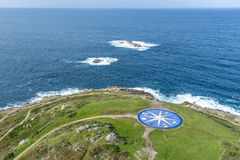 Compass rose in A Coruna, Galicia, Spain. Stock Photo