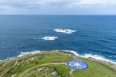 Compass rose in A Coruna, Galicia, Spain. Royalty Free Stock Photos