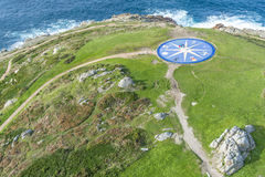 Compass rose in A Coruna, Galicia, Spain. Royalty Free Stock Photography