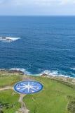 Compass rose in A Coruna, Galicia, Spain. Stock Image