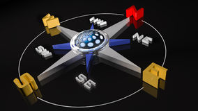 Compass Rose  in 3D illustration. High quality three-dimensional generated illustration Royalty Free Stock Photography