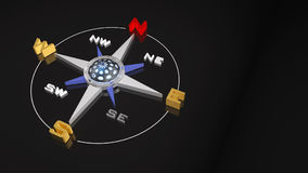 Compass Rose  in 3D illustration. High quality three-dimensional generated illustration Royalty Free Stock Image