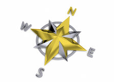 Compass Rose - 3D Royalty Free Stock Image