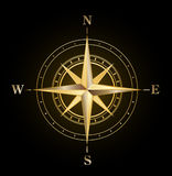 Compass rose gold royalty free stock photo