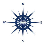 Compass rose icon isolated on white Royalty Free Stock Image