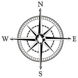 Compass rose illustration Royalty Free Stock Image