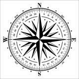 Compass rose isolated on white. royalty free illustration