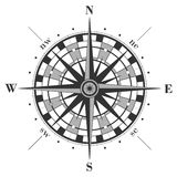 Compass rose isolated on white. Royalty Free Stock Photo
