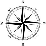 Compass Rose isolated on white vector Stock Image
