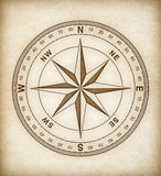 Compass rose on old paper Stock Photography