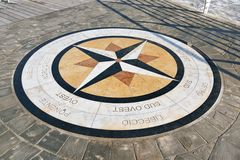 The compass rose, Pesaro Royalty Free Stock Image