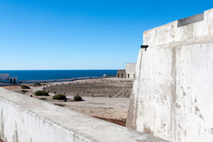 The compass rose in the Sagres Fortress, Portugal Royalty Free Stock Photography