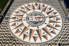 Compass Rose Square in Lisbon, Portugal Royalty Free Stock Photos