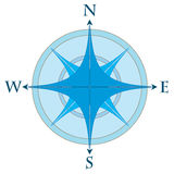 Compass rose. In two colors - vector illustration Royalty Free Stock Images