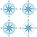Compass rose. Vector illustration of four compass roses Royalty Free Stock Images