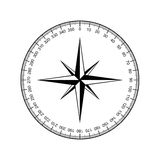 Compass rose vector Royalty Free Stock Photo