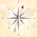 Compass rose on vintage grungy background Royalty Free Stock Photo