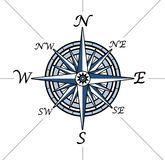 Compass rose on white background Royalty Free Stock Photo