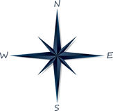 Compass rose on white background Stock Photos