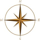 Compass rose on white background Stock Photography