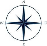 Compass rose on white background Royalty Free Stock Photos
