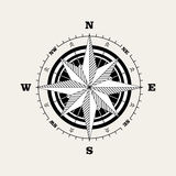 Compass rose windrose Stock Images
