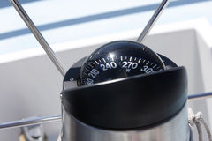 Compass on a sailboat Royalty Free Stock Image