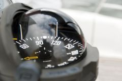 Compass of a sailing yacht stock photography