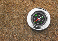 Compass on sand Stock Photography