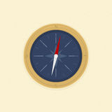 Compass on the sand. Illustration vector format Royalty Free Stock Photos