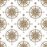 Compass seamless background pattern Royalty Free Stock Photo