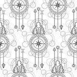 Compass Seamless Pattern Royalty Free Stock Photo