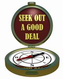 Compass - Seek Out A Good Deal? Stock Image