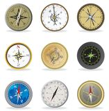 Compass. Set Royalty Free Stock Photography