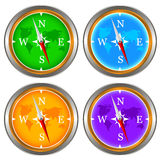 Compass set Royalty Free Stock Images