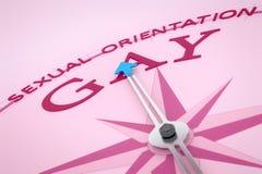 Compass Sexual Orientation. An image of a nice pink compass with the word sexual orientation gay Stock Photos