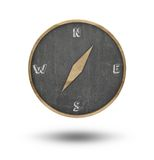 Compass shape blackboard Royalty Free Stock Image