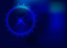 Compass. Sign on dark blue background vector illustration