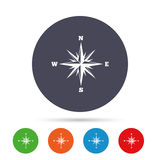 Compass sign icon. Windrose navigation symbol. Royalty Free Stock Images