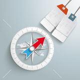 Compass Silver Background Price Sticker. White compass on the grey background. Eps 10 vector file Royalty Free Stock Photos
