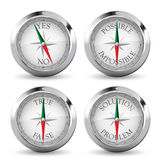 Compass - solutions concept Stock Photo