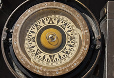 Compass on a square rigger Royalty Free Stock Photo